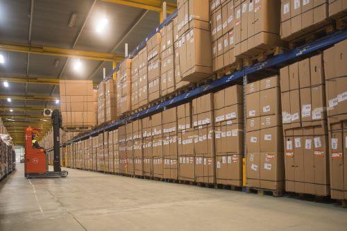 Opslag van basisproducten en afgewerkte goederen